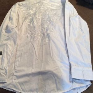 Roar Benedictine Long Sleeve Button Up Size L